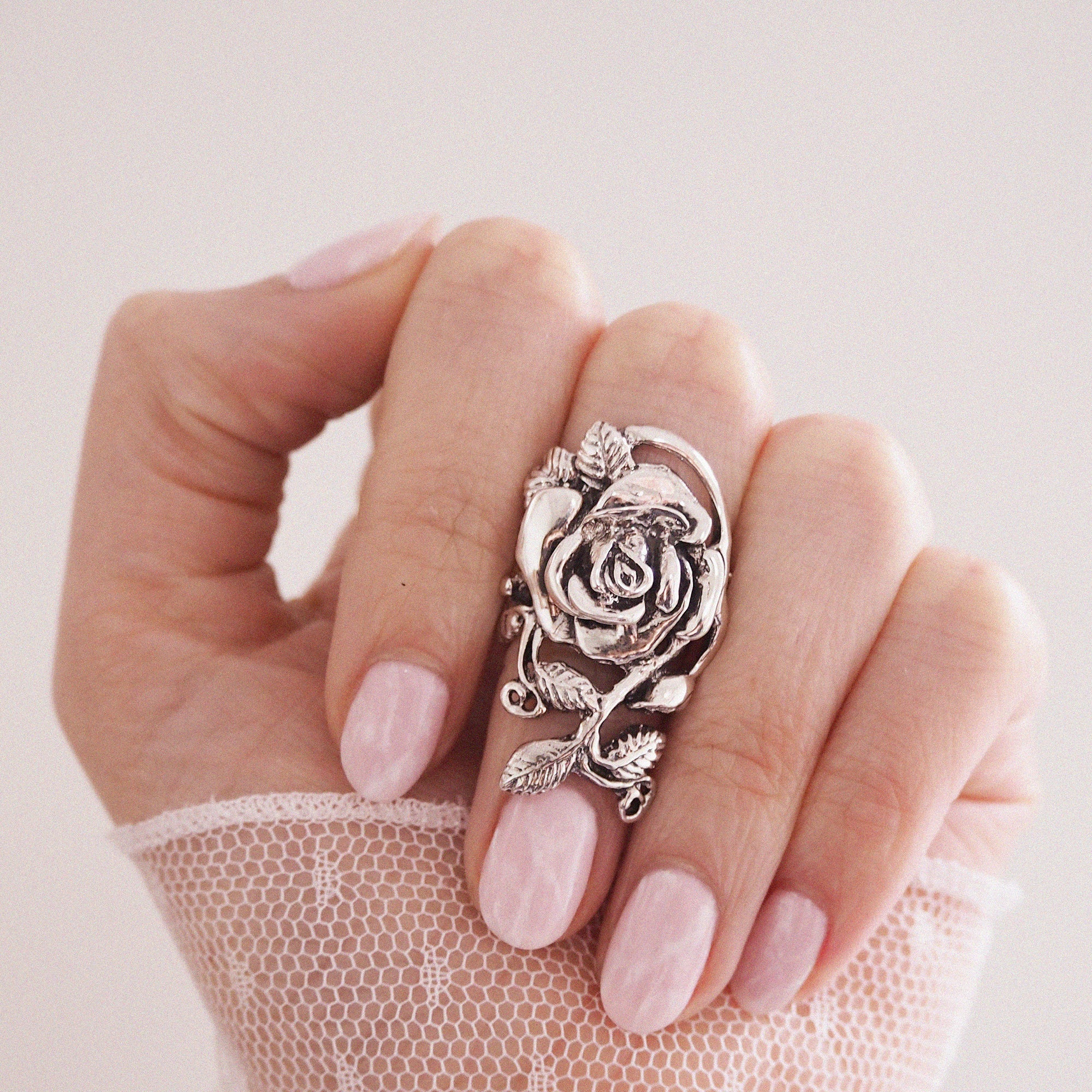 Image of Juliette Sterling Silver Rose Ring