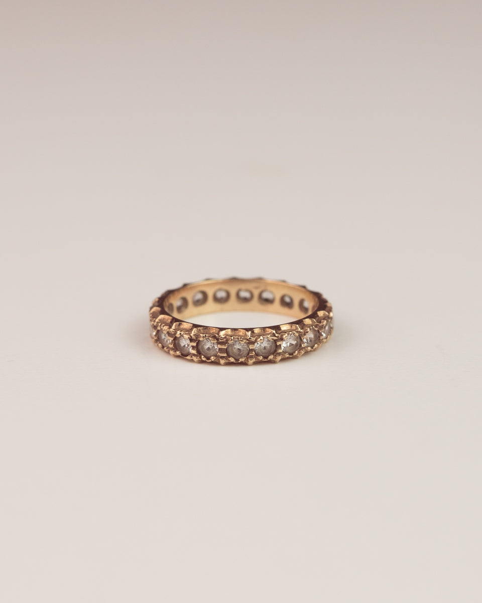 Image of Eugenie Exclusive Vintage 9ct Gold Spinel Eternity Band Ring