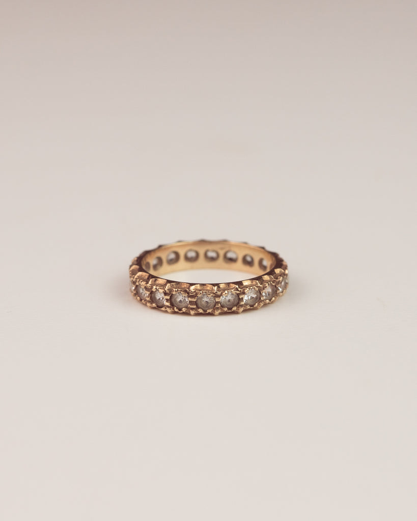 Eugenie Exclusive Vintage 9ct Gold Spinel Eternity Band Ring