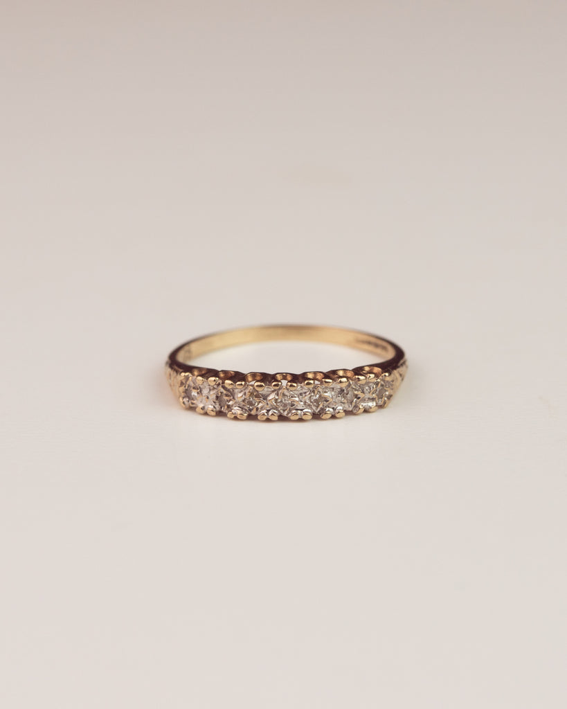 Ailsa Exclusive Vintage 9ct Gold Diamond Eternity Ring