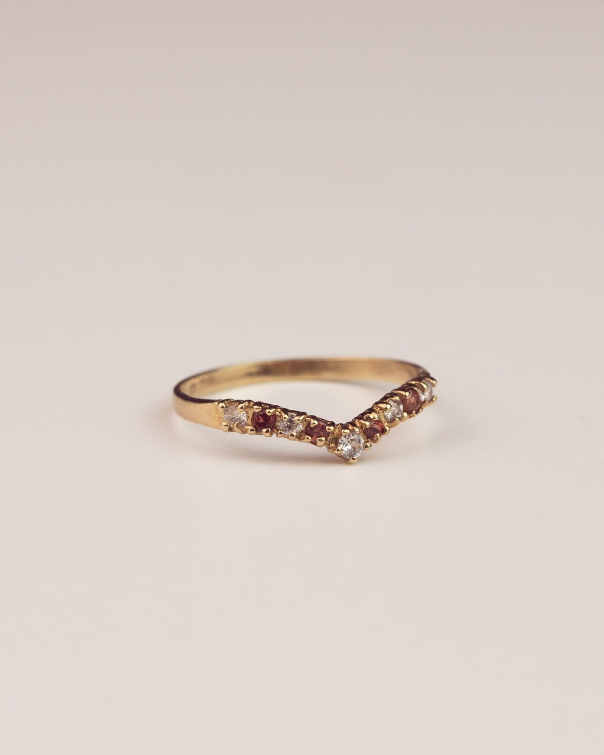 Image of Jessamy Exclusive Vintage 9ct Gold Wishbone Ring
