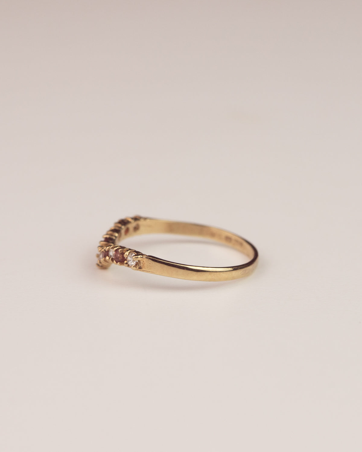 Jessamy Exclusive Vintage 9ct Gold Wishbone Ring
