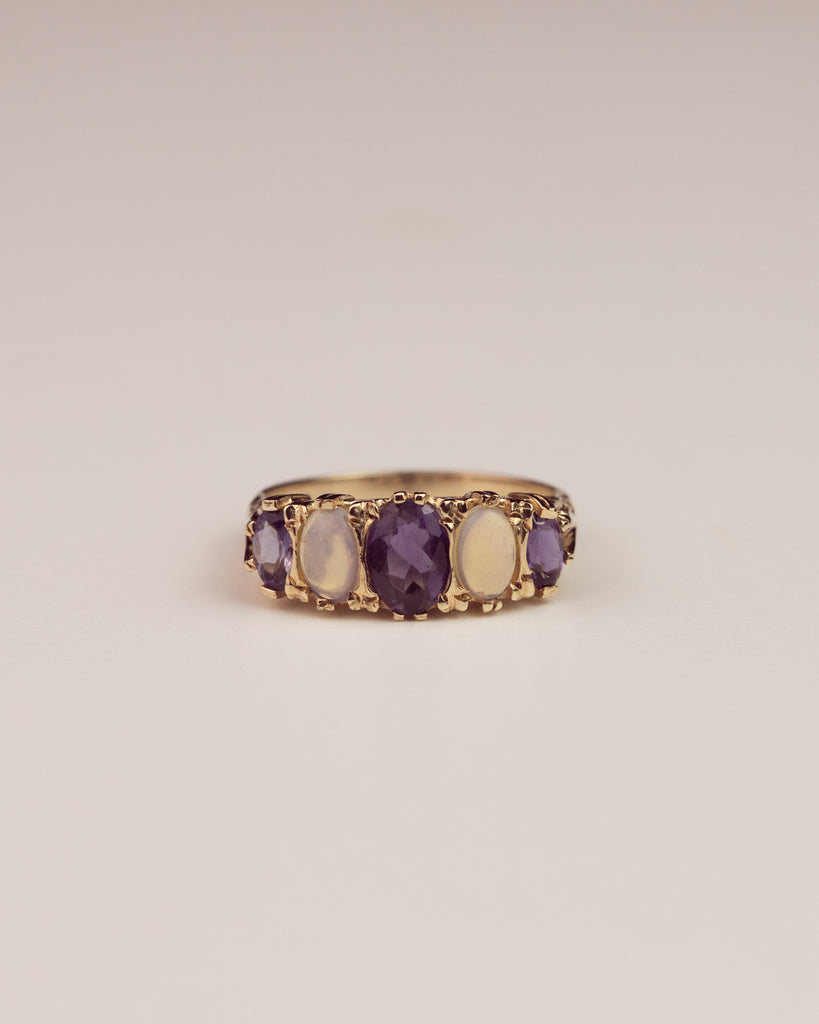 Sophia 9ct Gold Opal & Sapphire Ring