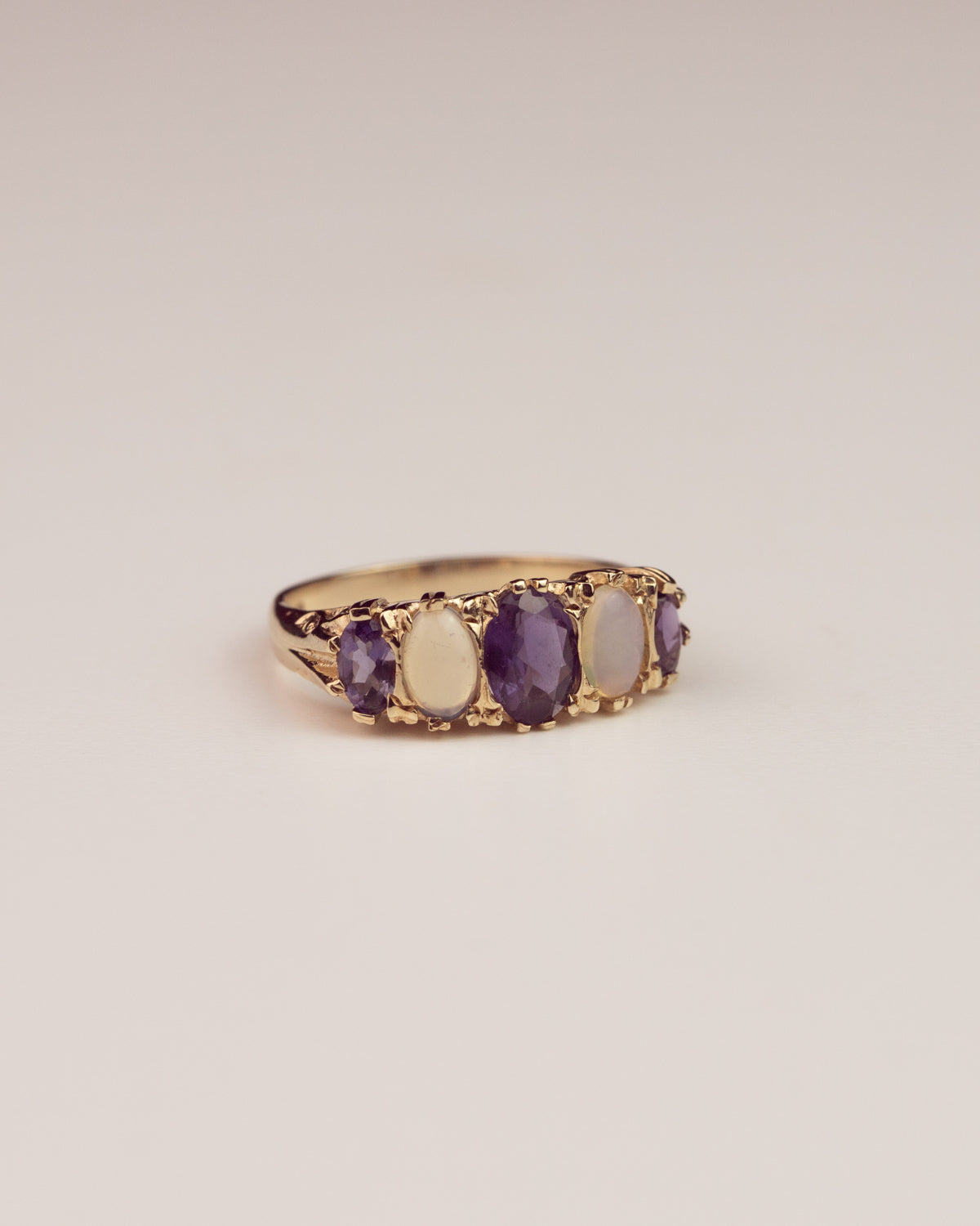 Image of Sophia 9ct Gold Opal & Sapphire Ring