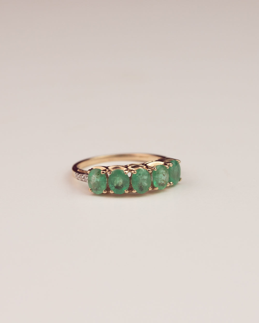 Maude 9ct Gold Emerald & Diamond Ring