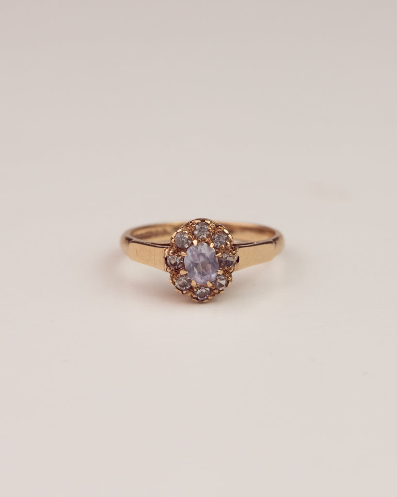 Rita Exclusive Vintage 9ct Gold Sapphire and Spinel Ring