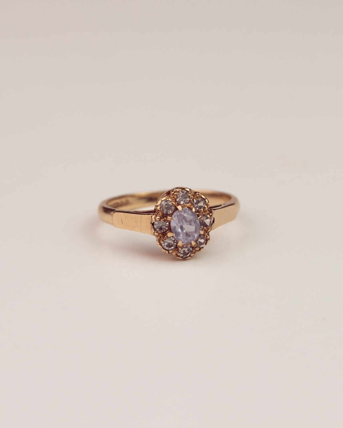 Image of Rita Exclusive Vintage 9ct Gold Sapphire and Spinel Ring