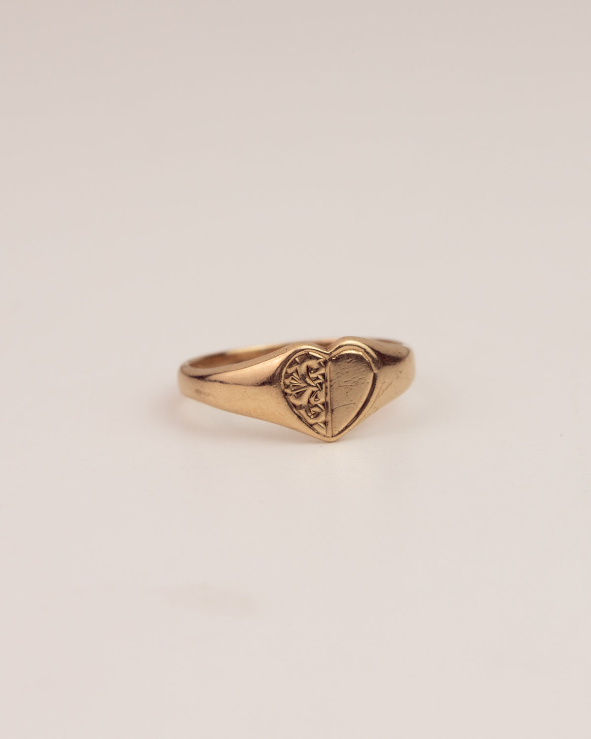 Image of Marcella Exclusive Vintage 9ct Gold Heart Signet Ring
