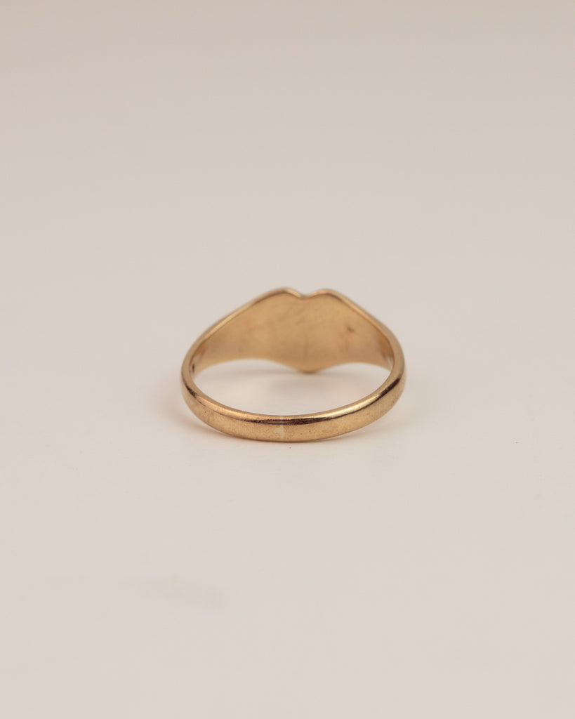 Marcella Exclusive Vintage 9ct Gold Heart Signet Ring