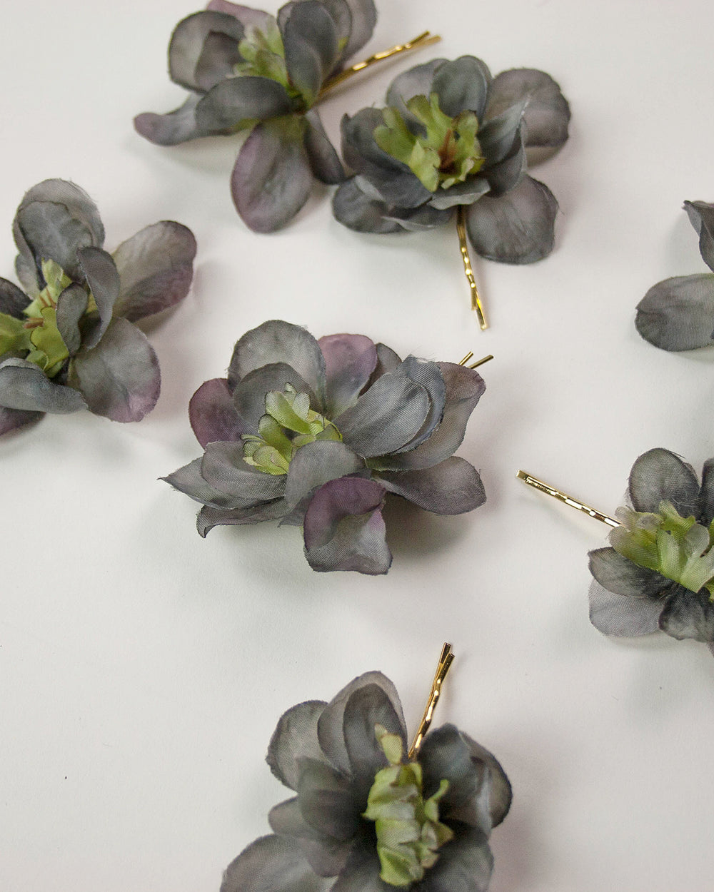 Franny Flower Hair Pins - Smoke