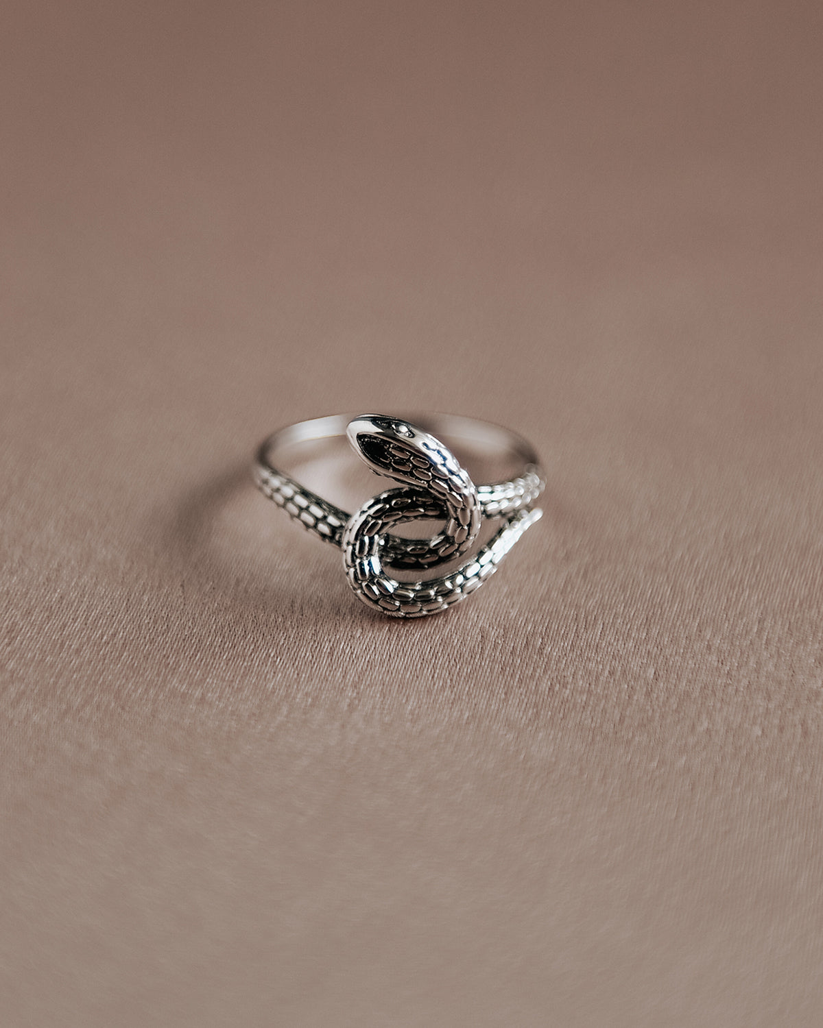 Image of Sunday Sterling Silver Snake Ring