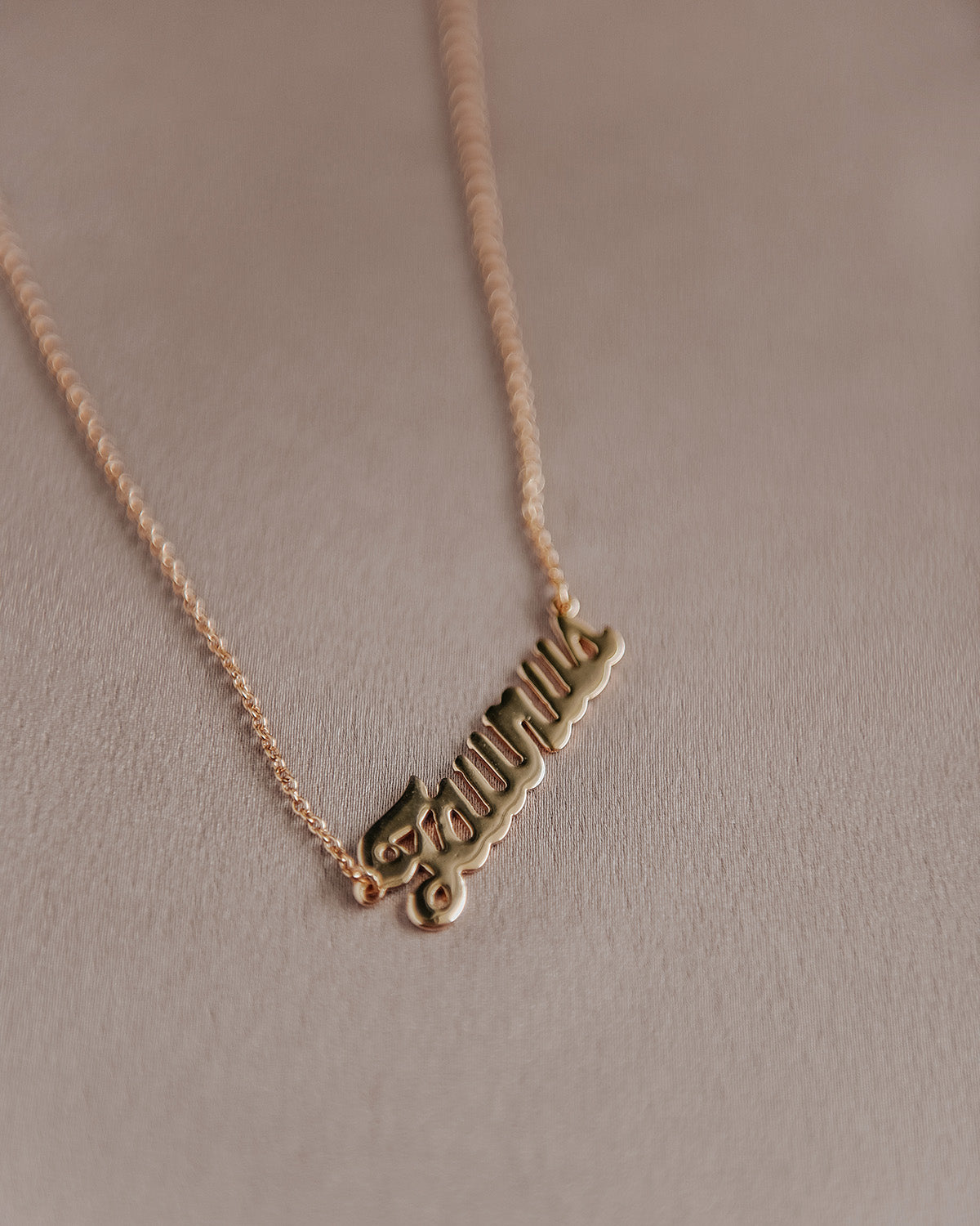 Image of Taurus Zodiac Nameplate Necklace