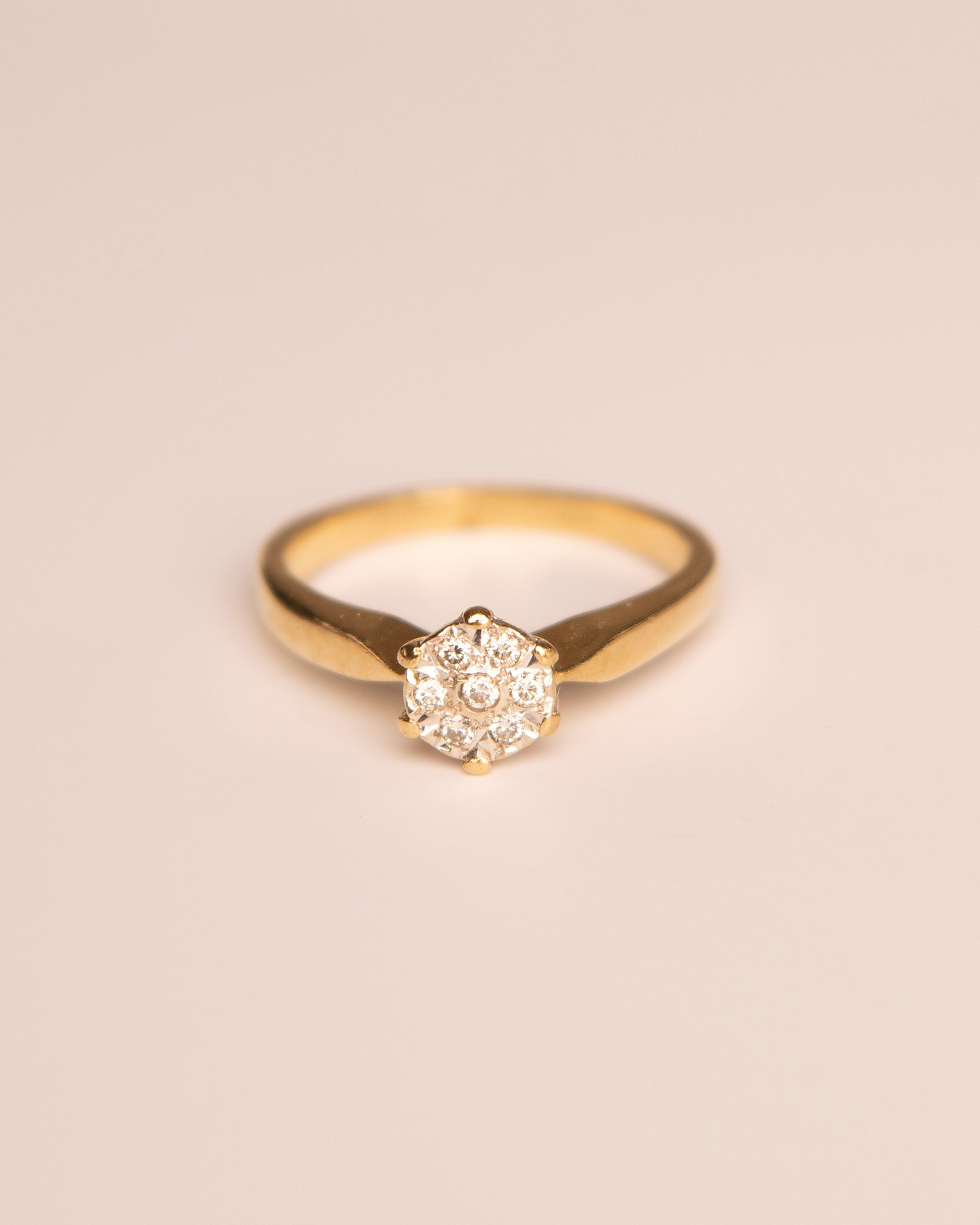 Image of Tess 9ct Gold Vintage Diamond Ring