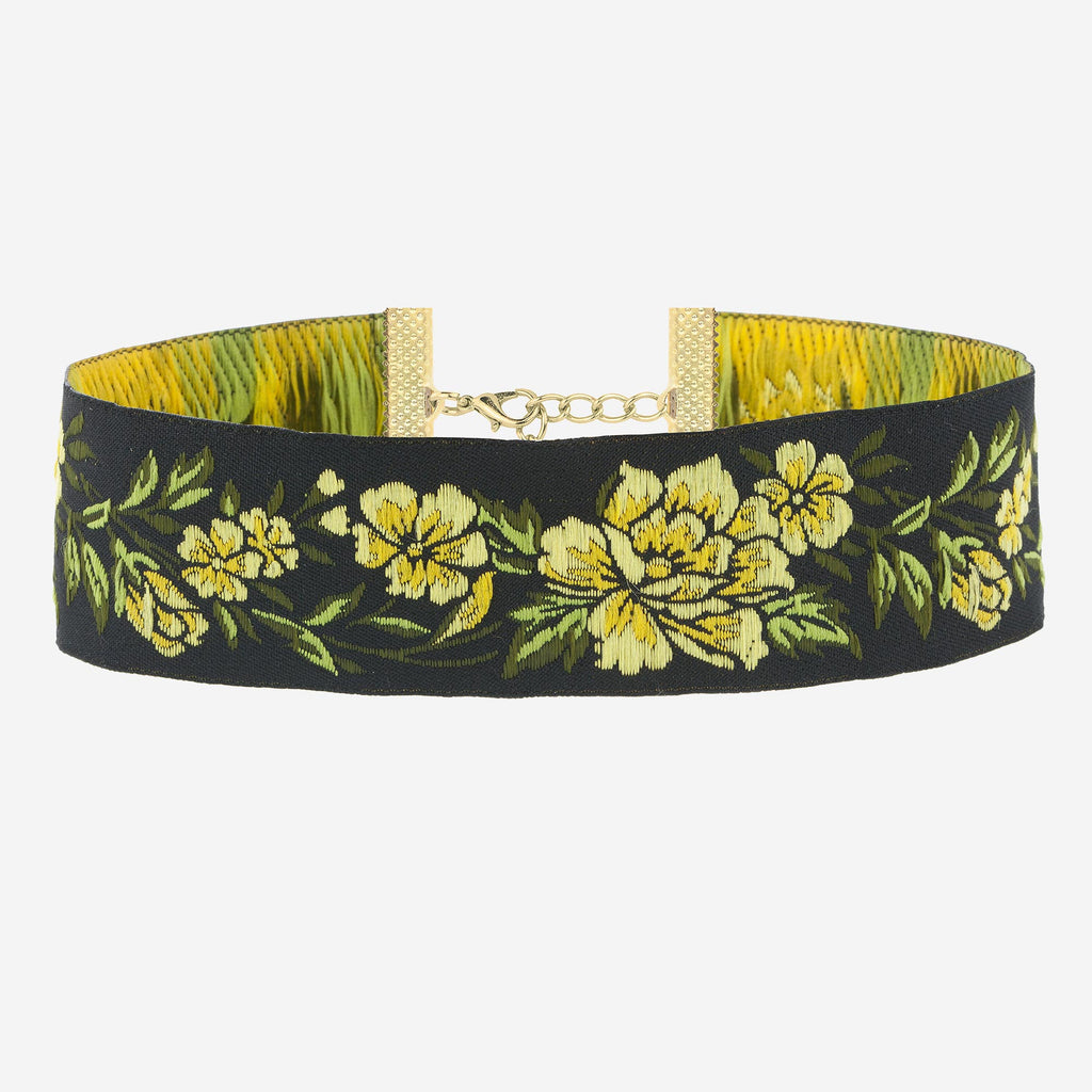 Image of VIOLA Wide Floral Choker