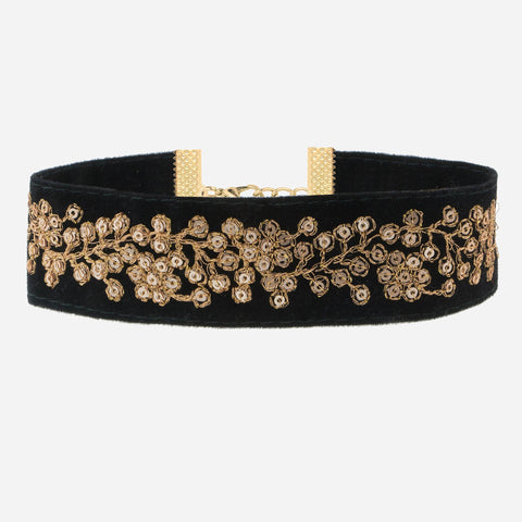 VIRGINIA Wide Floral Choker