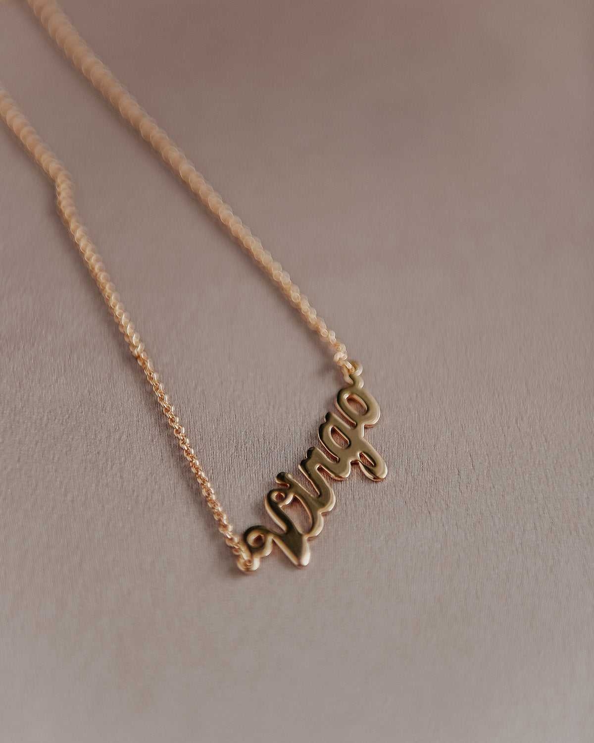 Image of Virgo Zodiac Nameplate Necklace