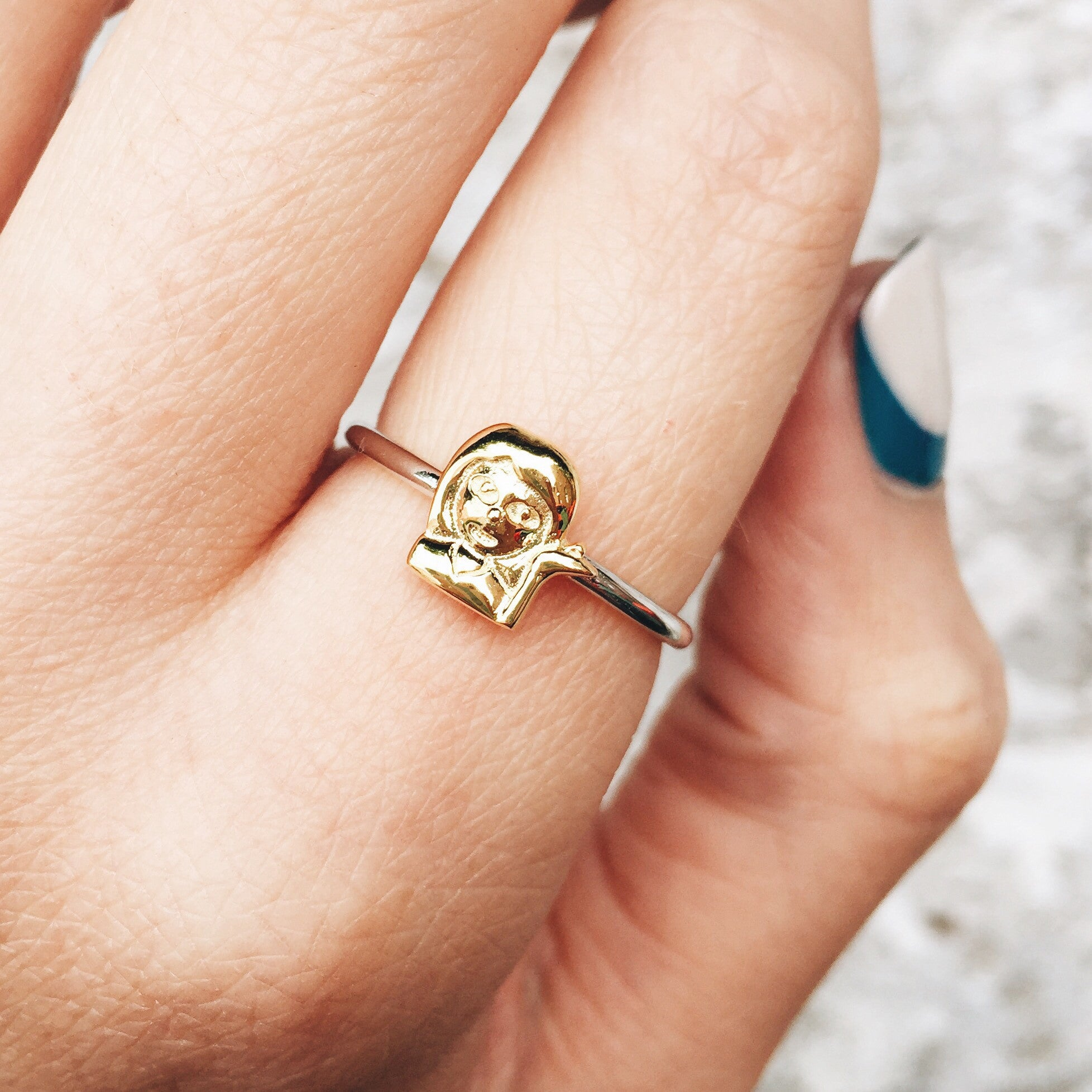 SASSY GIRL Sterling Silver Emoji Ring | Rock N Rose