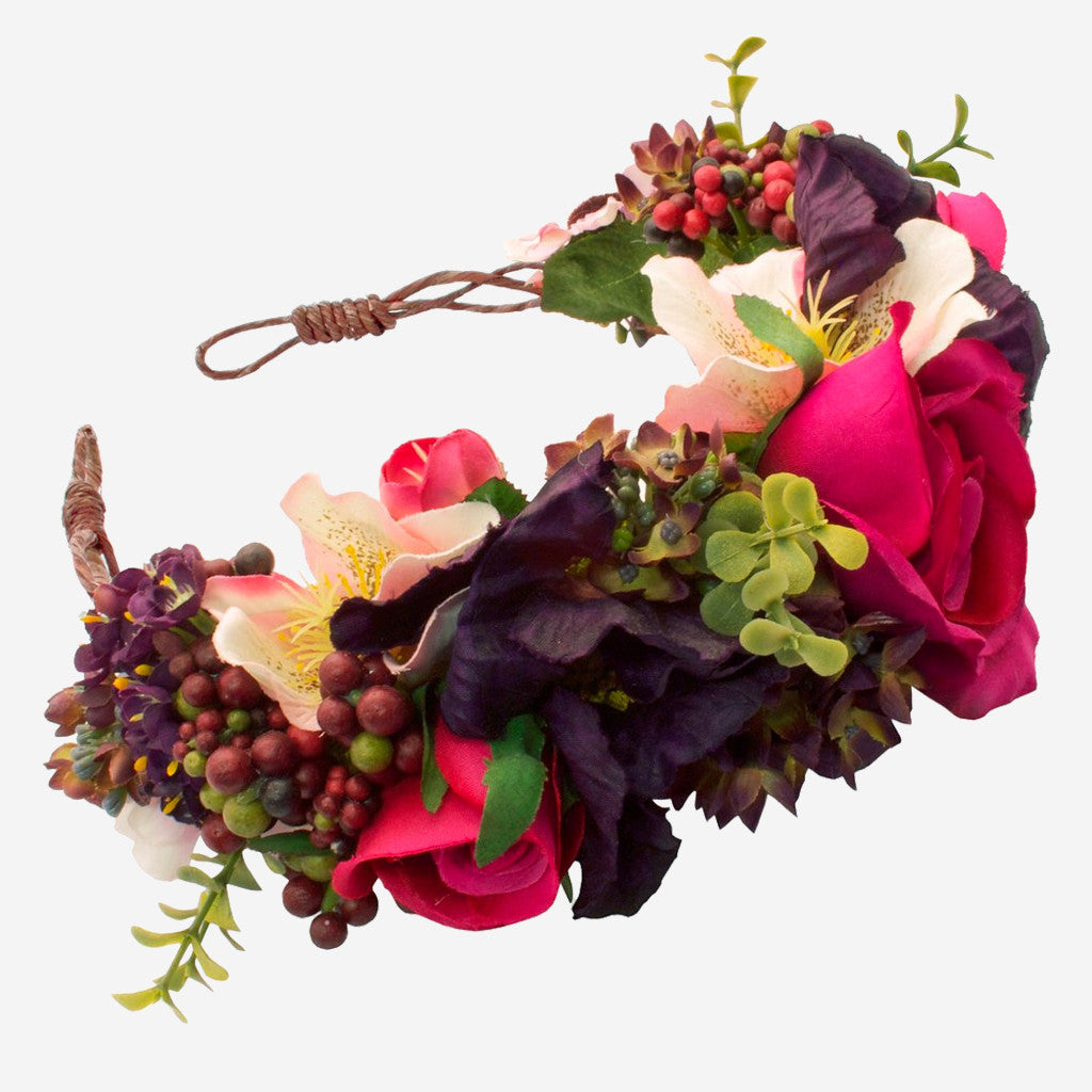 AGNES Floral Crown Headband