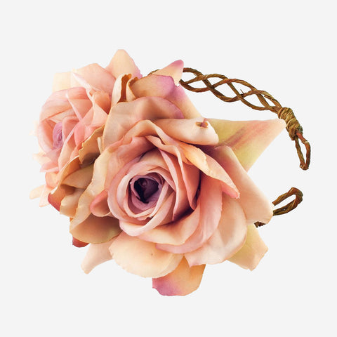 ARABELLA Apricot Rose Crown Headband