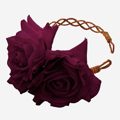 ARABELLA Plum Rose Crown Headband