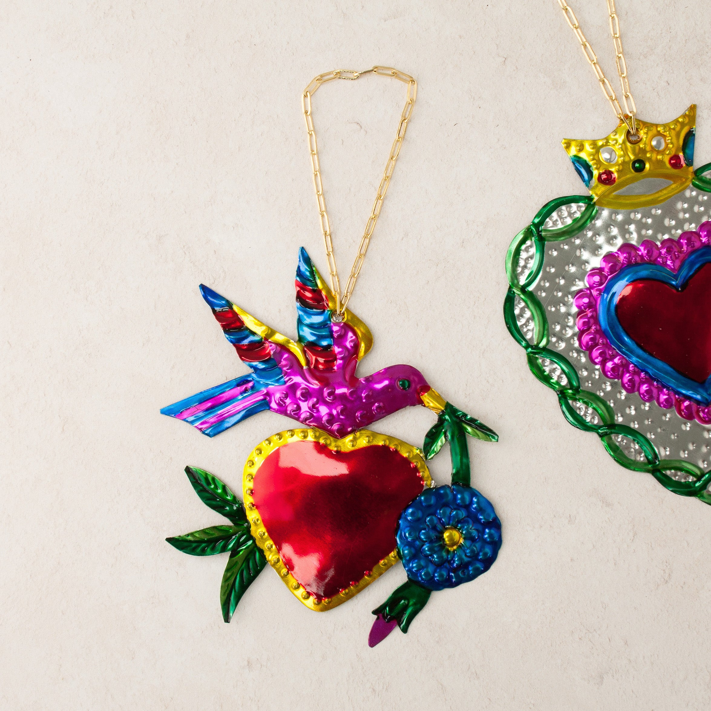 Image of Heart & Swallow Hanging Ornament