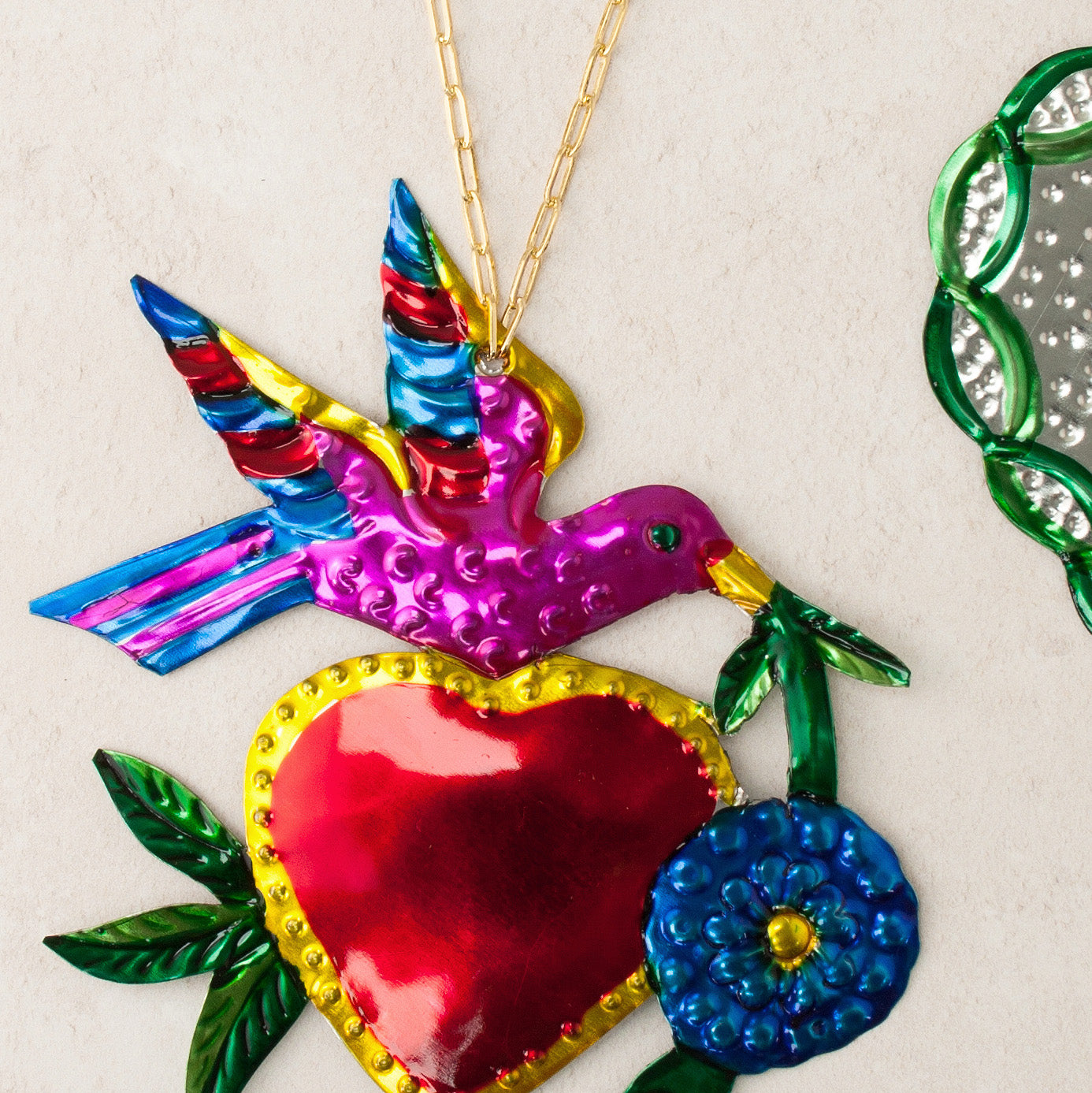 Heart & Swallow Hanging Ornament