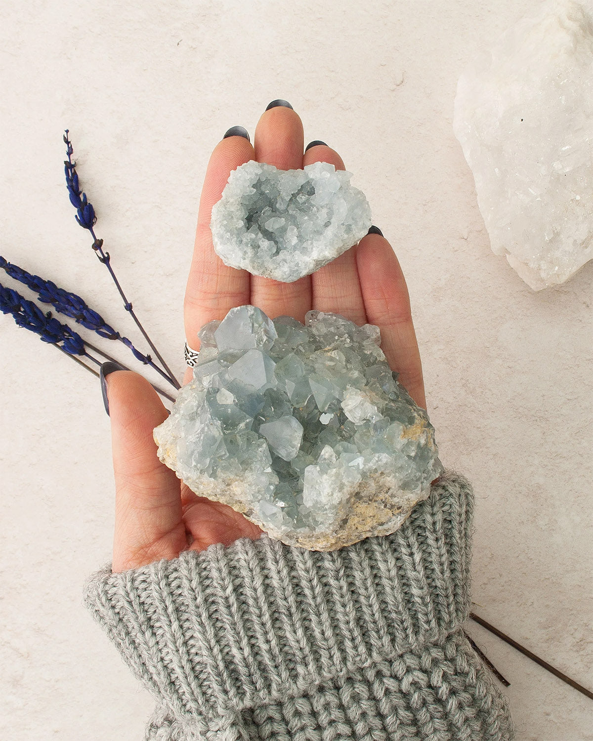 Celestite Raw Crystal Cluster