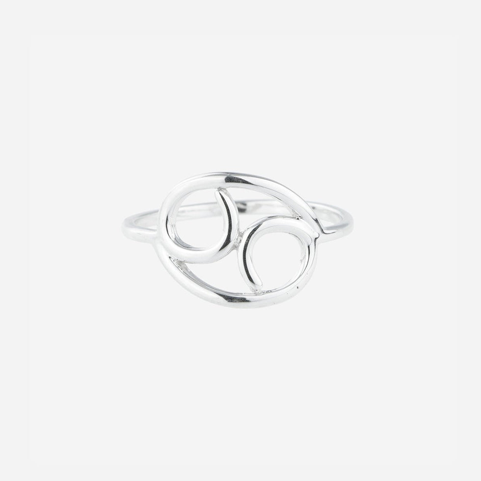 Bellatrix Sterling Silver Zodiac Ring - Cancer