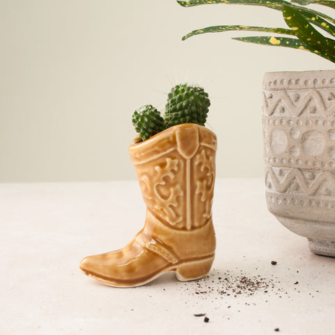 Cowboy Boot Mini Planter