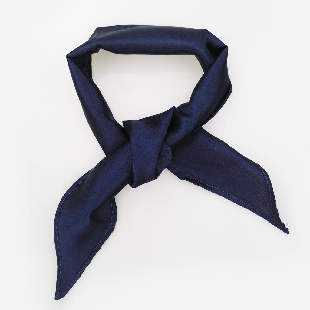 Image of EDIE Navy Silk Neck Tie Choker