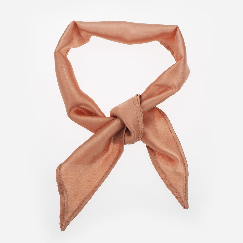 Image of EDIE Pink Silk Neck Tie Choker