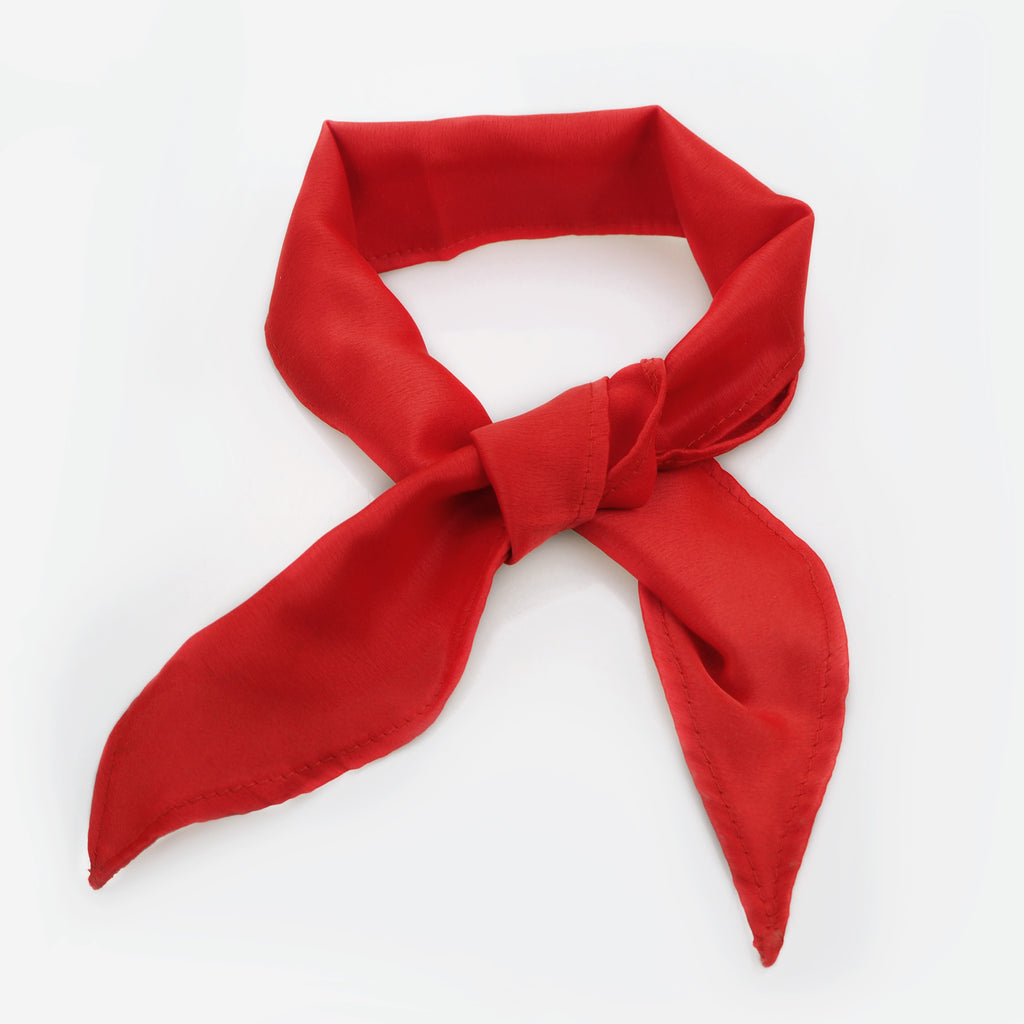 Image of EDIE Red Silk Neck Tie Choker