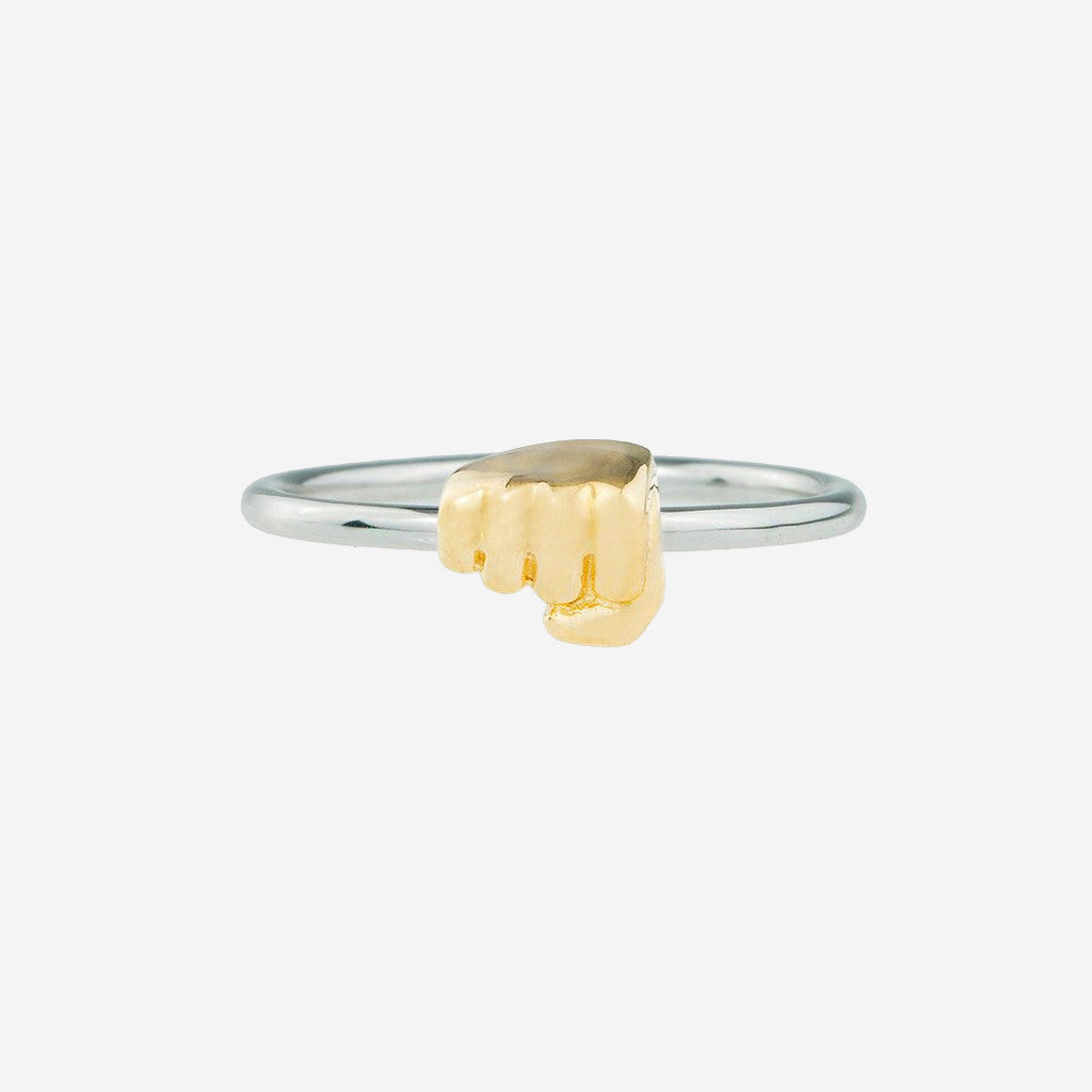 FIST BUMP Sterling Silver Emoji Ring