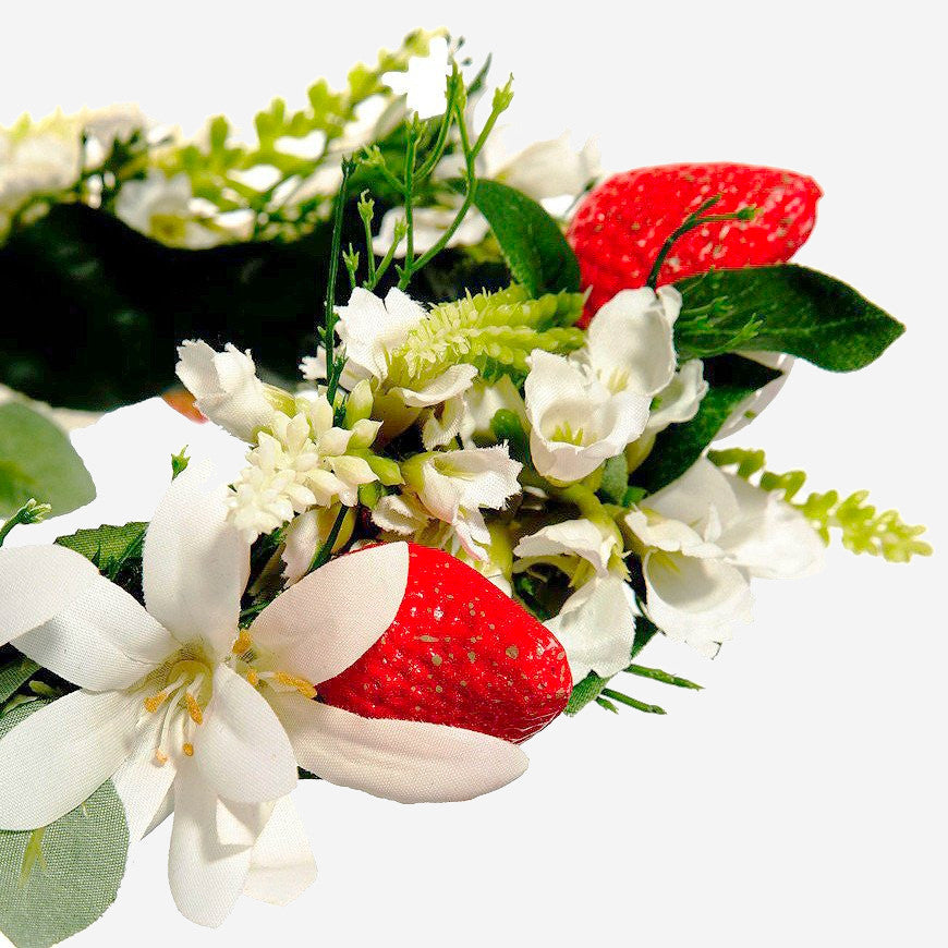 HARRIET Strawberry Meadow Crown Headband