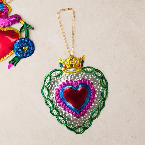 Fancy Heart Hanging Christmas Ornament