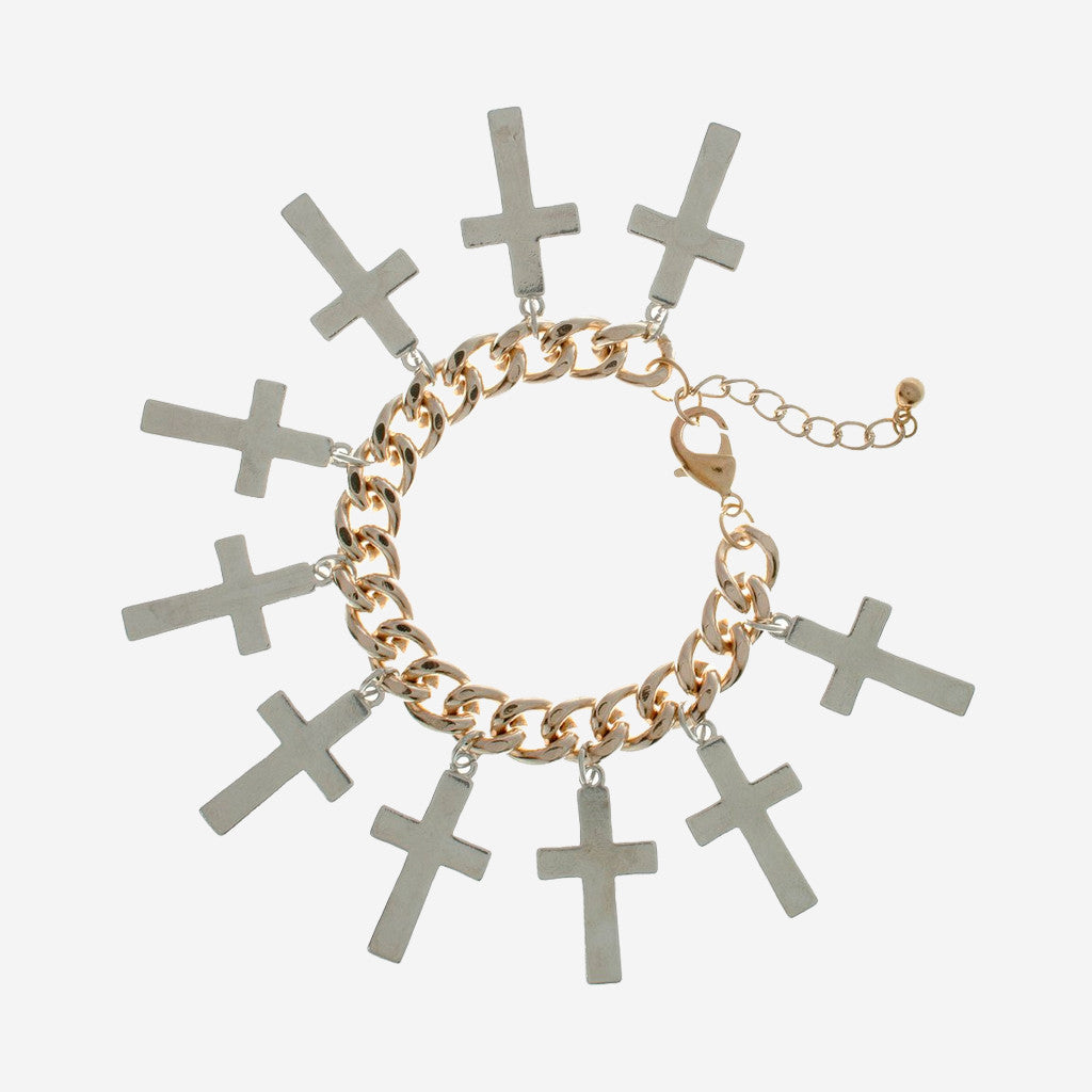 Image of HOLLY Overload Cross Bracelet