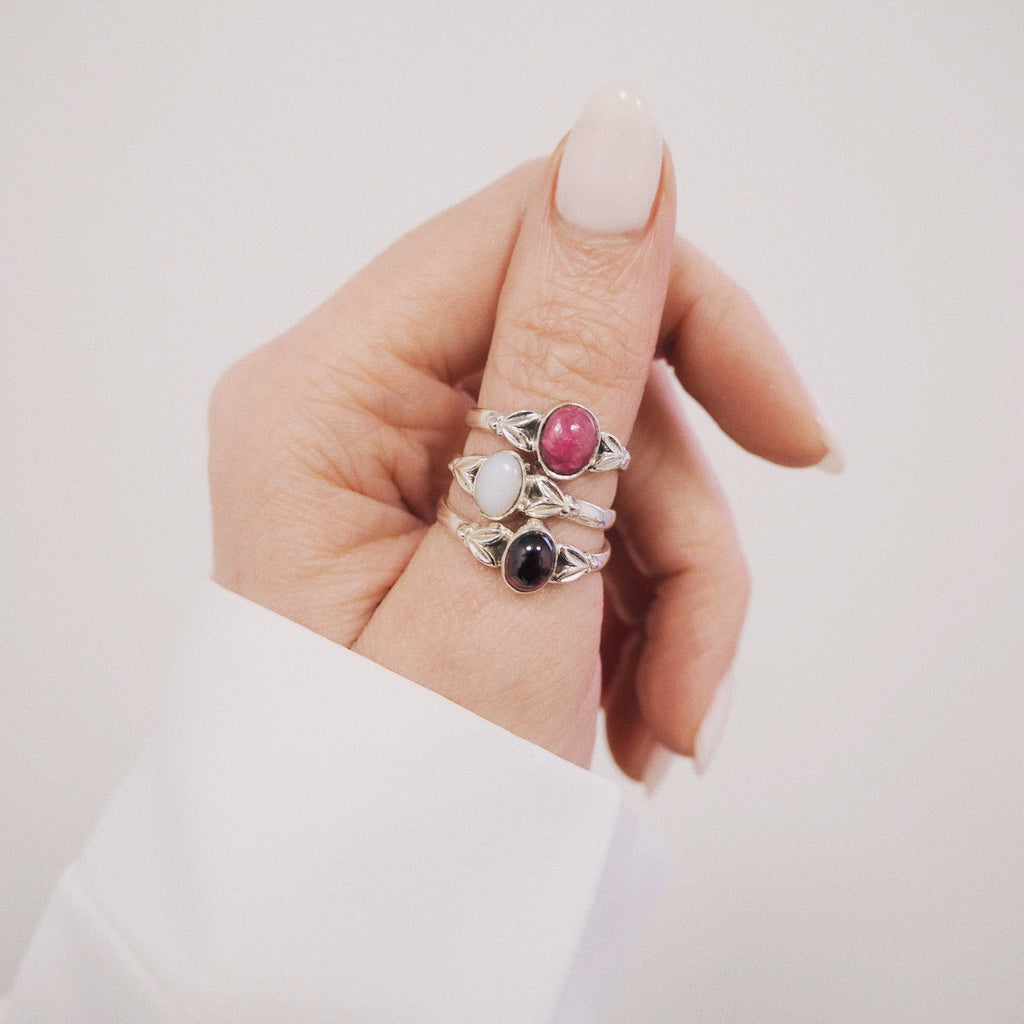 Edie Ruby July Birthstone Ring