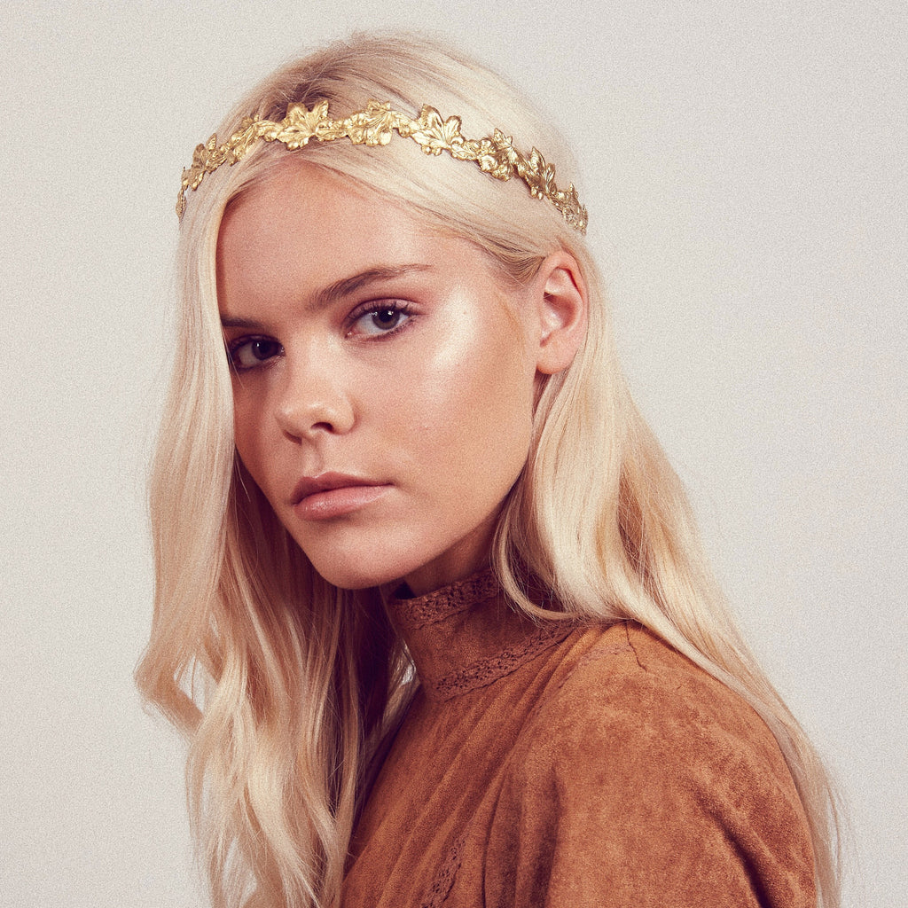 Image of IVY Metal Crown Headband
