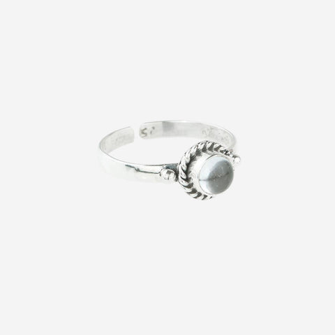 INA Clear Quartz April Birthstone Midi Ring