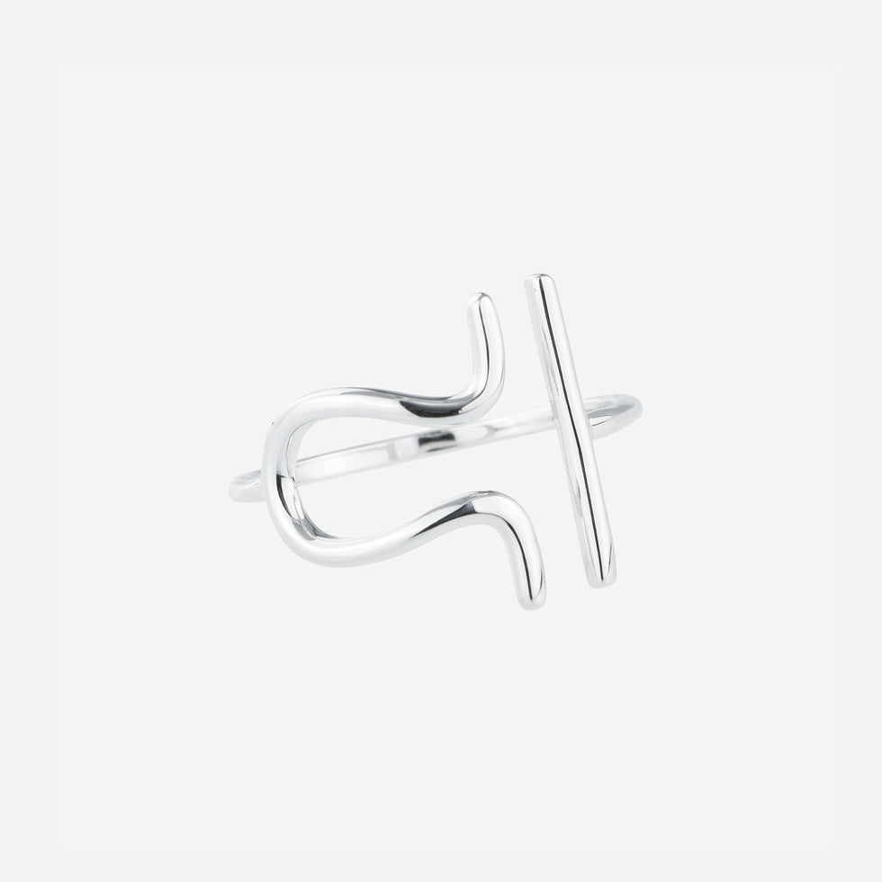 Bellatrix Sterling Silver Zodiac Ring - Libra