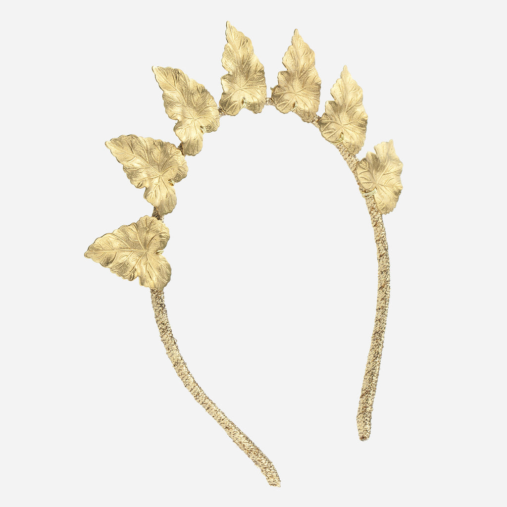 Image of OLIVE Brass Leaf Crown
