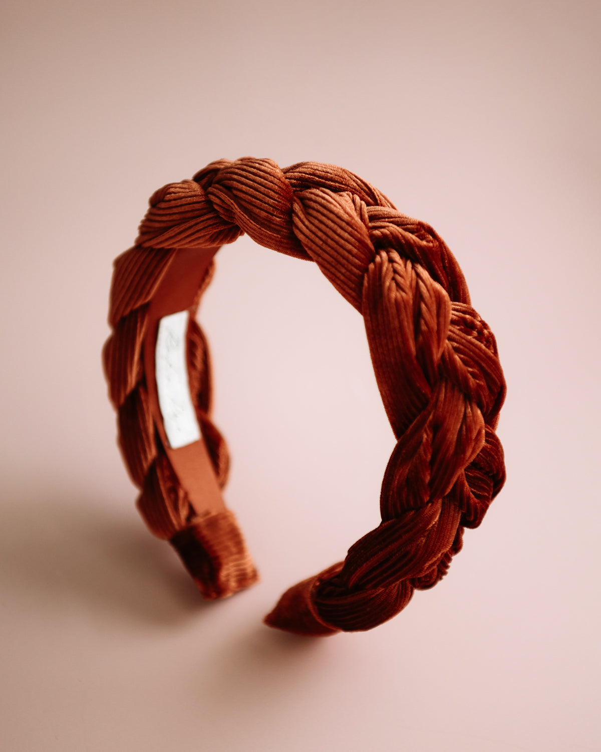Image of Millicent Rust Velvet Plaited Headband