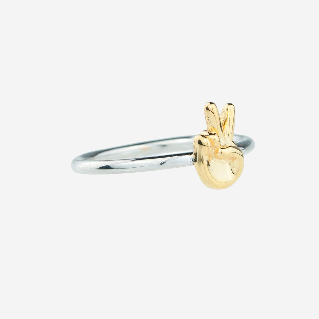 PEACE Sterling Silver Emoji Ring