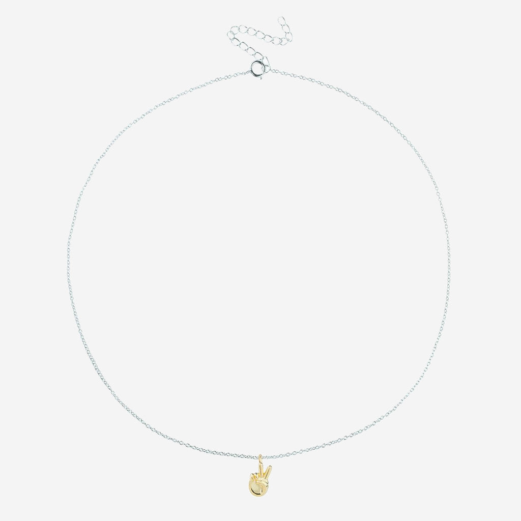PEACE Sterling Silver Emoji Necklace