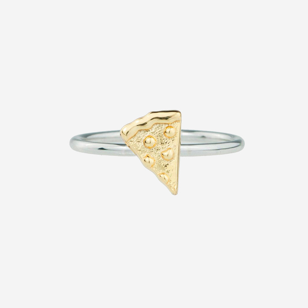 Image of PIZZA Sterling Silver Emoji Ring