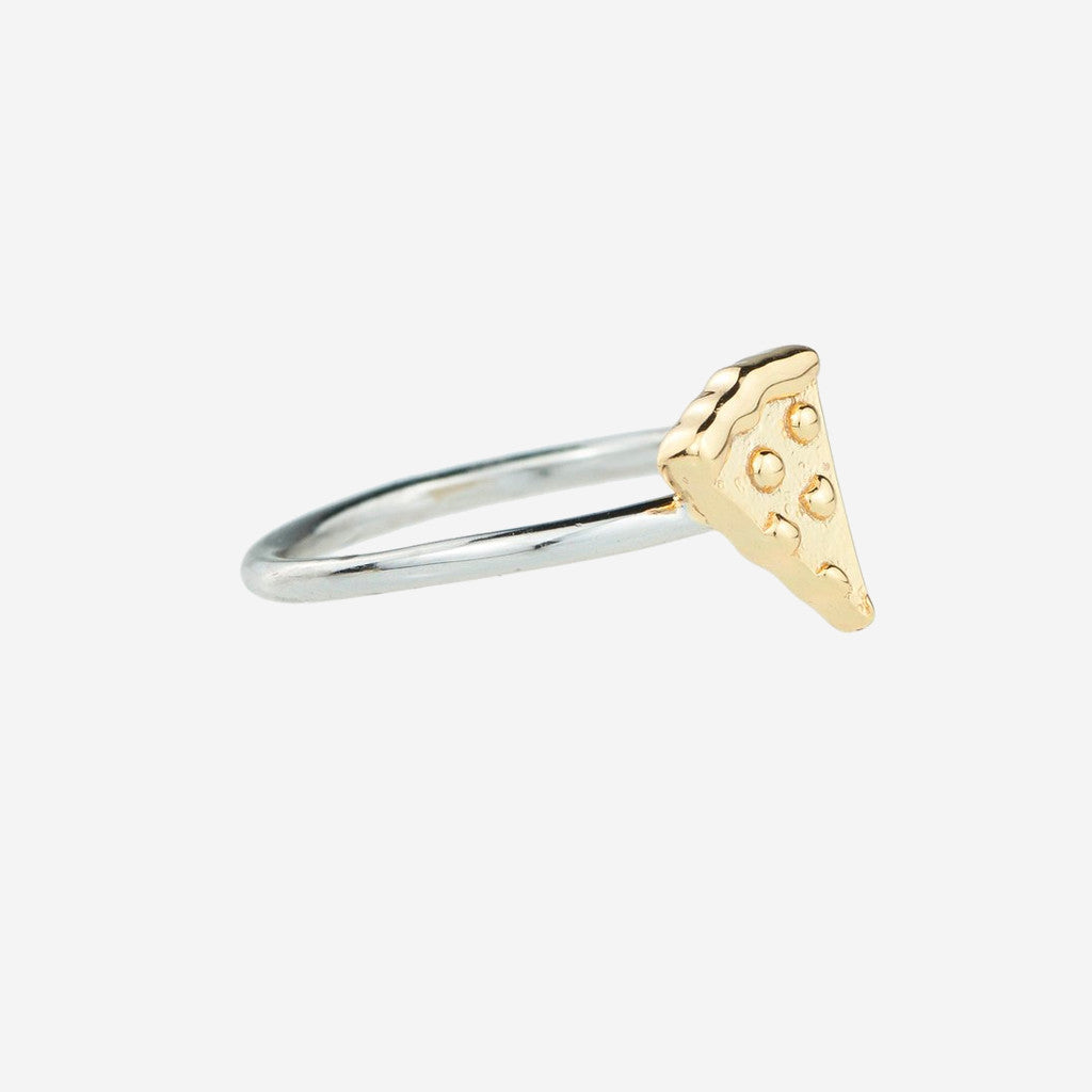 PIZZA Sterling Silver Emoji Ring
