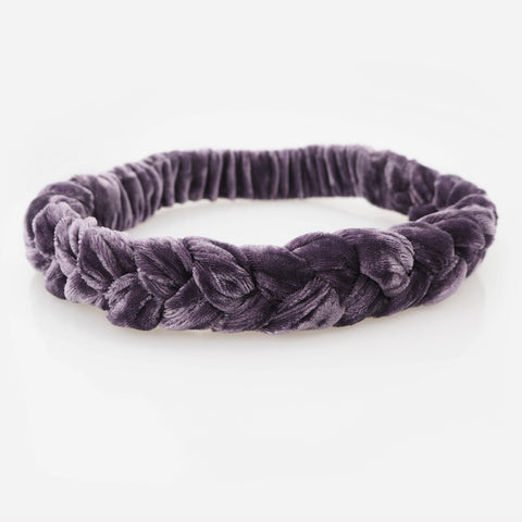 RUMI Velvet Braid Headband - Purple