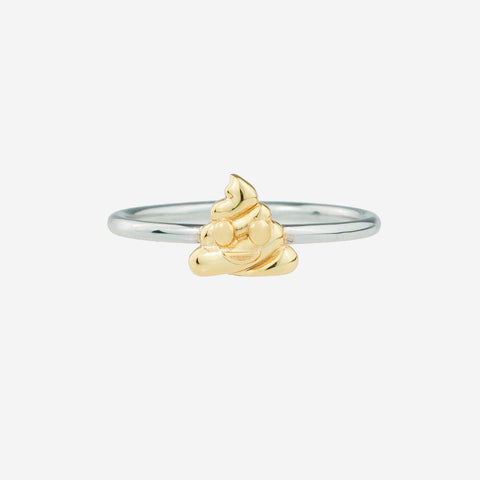 POOP Sterling Silver Emoji Ring