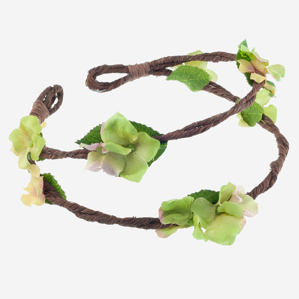 Image of RAMONA Green Floral Crown Headband