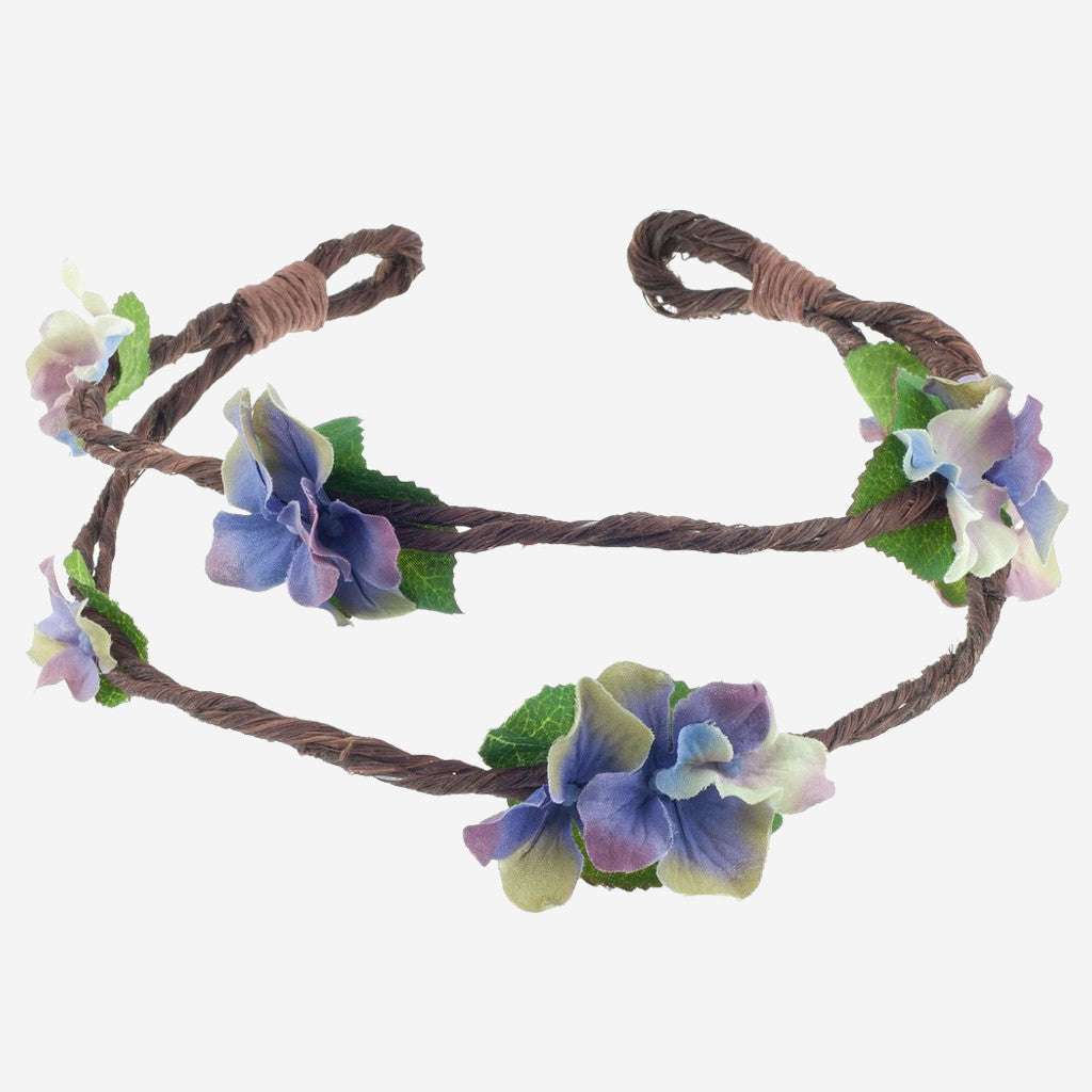 RAMONA Purple Floral Crown Headband
